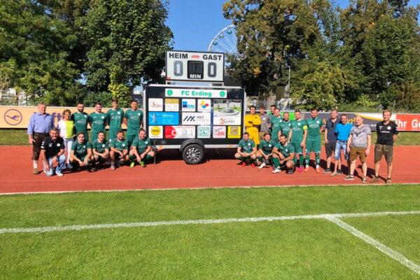 FC Erding Spielstandsanzeige Sponsoren